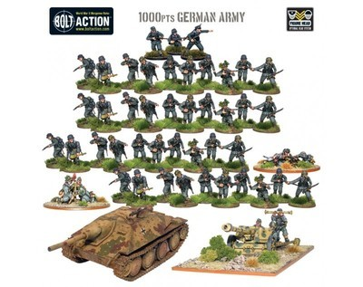 German Heer - Bolt Action Starter Army (1000Pts) - German -Bolt Action
