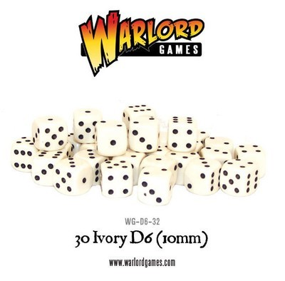 Würfel - Elfenbein - D6 - 10mm - Warlord Games