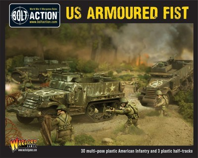 US Armoured Fist (3x Halfracks & 30 Infantry) - American - Bolt Action
