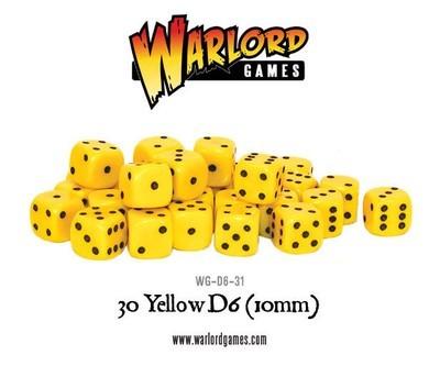 Würfel - Gelb - D6 - 10mm - Warlord Games
