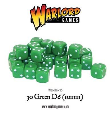 Würfel - Grün - D6 - 10mm - Warlord Games