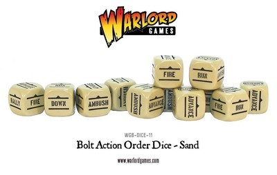 Befehlswürfel - Order Dice - Sand - Bolt Action