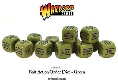 Befehlswürfel - Order Dice - Grün - Bolt Action