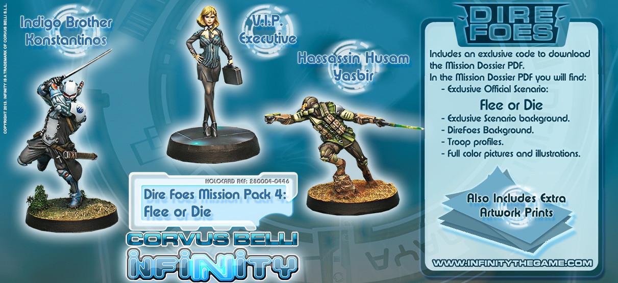 Dire Foes Mission Pack 4: Flee or Die - Mission Packs - Infinity