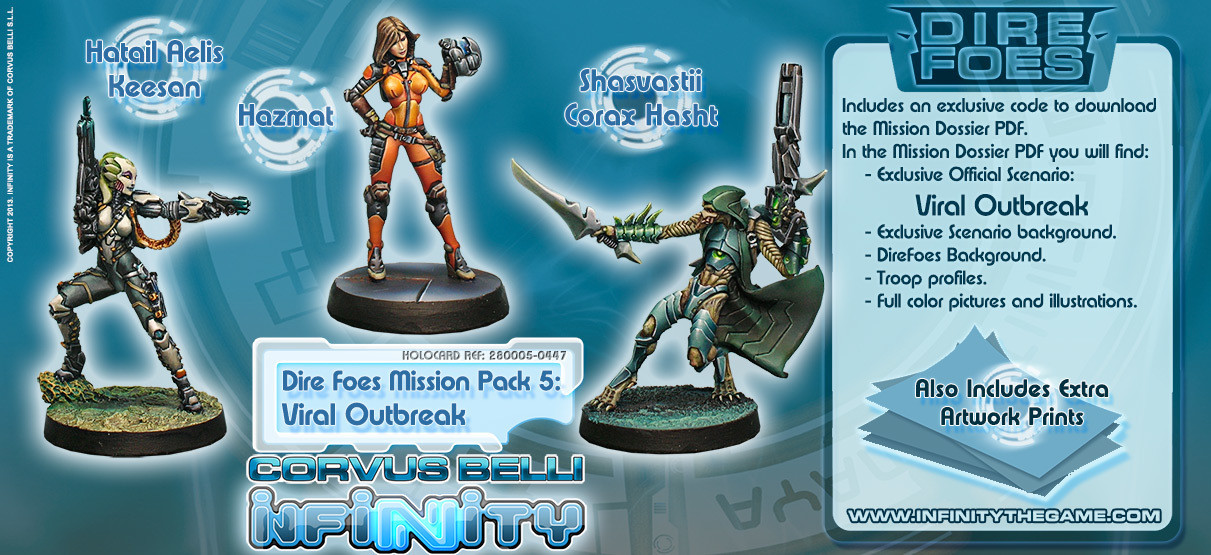 Dire Foes Mission Pack 5: Viral Outbreak - Mission Packs - Infinity