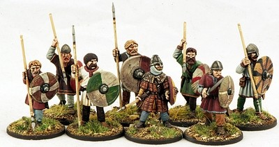 Anglo-Danish Ceorls (Warriors) (8) 1 pt - SAGA - Anglodänen