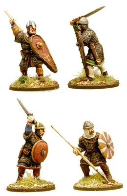 Anglo-Danish Huscarls (Spear) Hearthguard 1pt - SAGA - Anglodänen