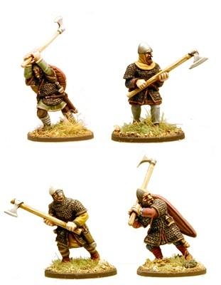 Anglo-Danish Huscarls (Axes) Hearthguard 1pt - SAGA - Anglodänen
