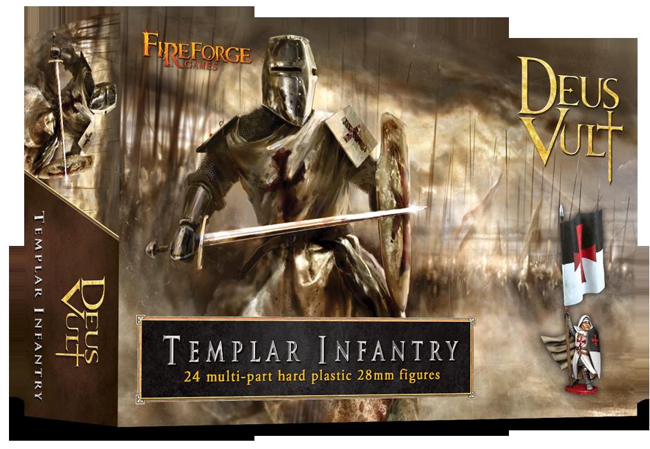 Templar Infantry (24 infantry plastic figures) - Deus Vult - Fireforge Games