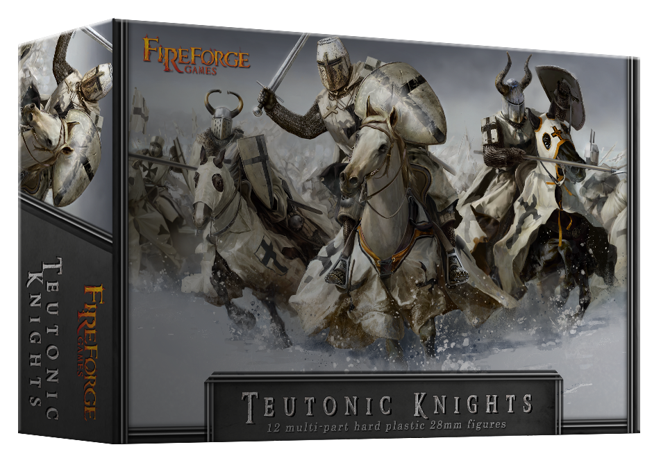 Teutonic Knights Cavalry (12 mounted plastic figures) - Deus Vult - Fireforge Games