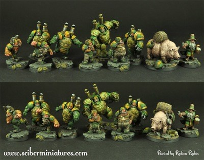 Dwarves Football Team 10 minis - Scibor Miniatures