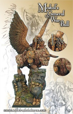 Moscal General on War Bull - Scibor Miniatures
