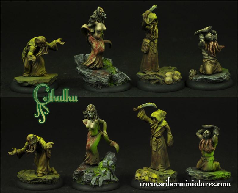 Cthulhu Cultists set - Scibor Miniatures