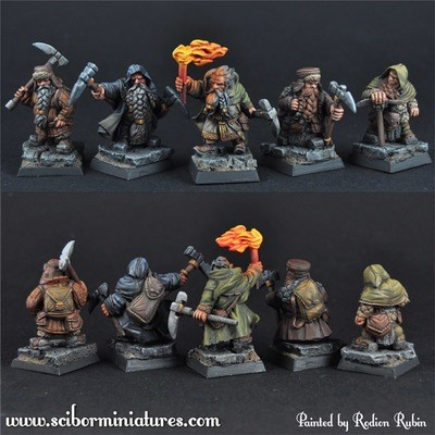 Dwarves Miners set2 - Scibor Miniatures
