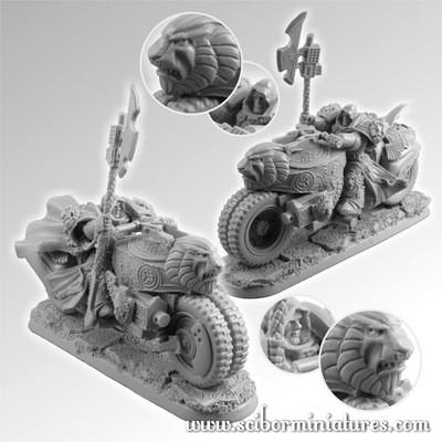 SF Lion Knight Motorcycle - Scibor Miniatures