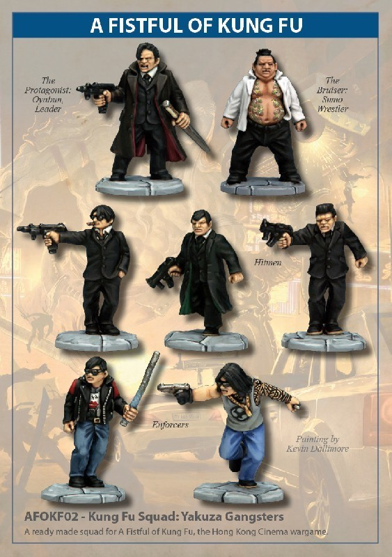 Kung Fu Squad: Yakusa Gangsters - A Fistful Of Kung Fu - North Star Figures