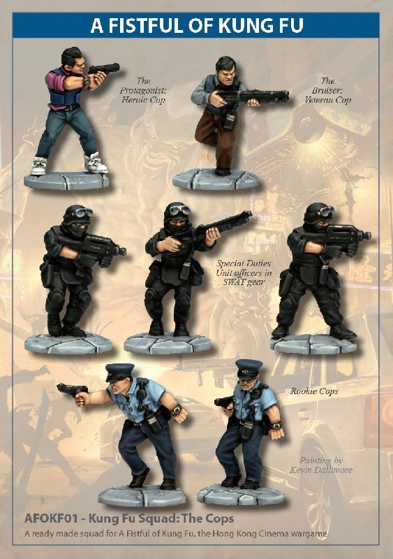 Kung Fu Squad: The Cops - A Fistful Of Kung Fu - North Star Figures