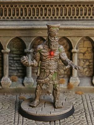 DM32c – Stone Golem - Otherworld Miniatures