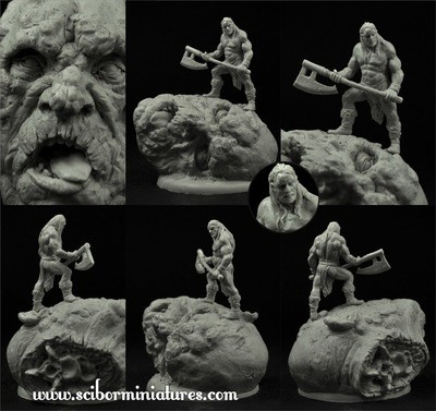 Extremely Barbaric Barbarian  - Scibor Miniatures