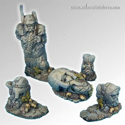 Dwarven Ruins Terrain - Scibor Miniatures
