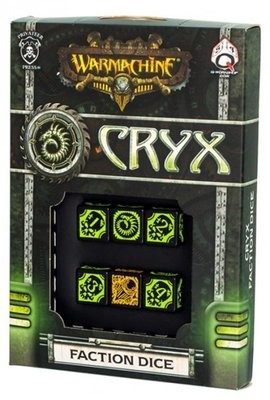 Warmachine Cryx Dice (6) - Warmachine - Privateer Press