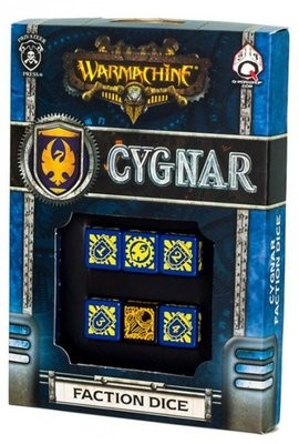 Warmachine Cygnar Dice (6) - Warmachine - Privateer Press