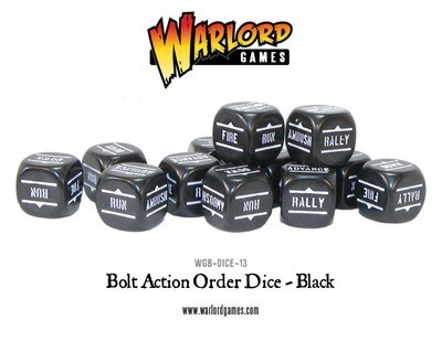 Befehlswürfel - Order Dice - Schwarz - Bolt Action