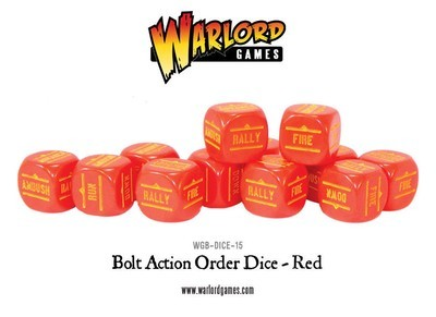 Befehlswürfel - Order Dice - Rot - Bolt Action