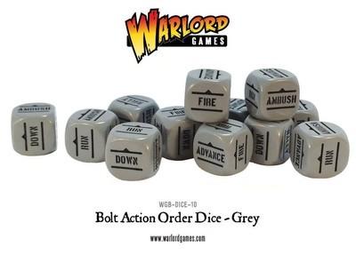 Befehlswürfel - Order Dice - Grau - Bolt Action