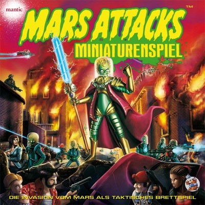 Mars Attacks - Miniaturenspiel DELUXE Deutsch - inkl. Spielmatte