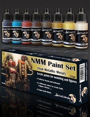 NMM (Non Metallic Metal) Gold and Copper Paint Set - Gold Farbset - Scale75