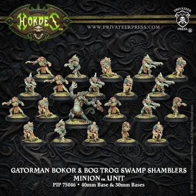 Minion Gatorman Bokur & Swamp Shamblers Unit (21) Box - Hordes - Privateer Press