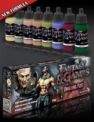 Unnatural Flesh - Fantasy&Games Paint Set - Farbset - Scale75
