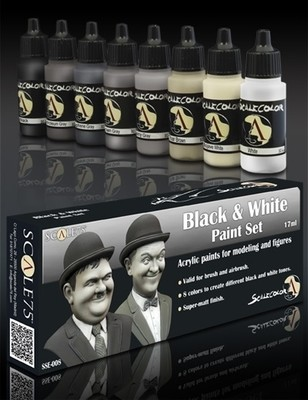 Black and White Paint Set - Schwarz und Weiss Farbset - Scale75