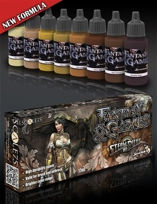 Steam and Punk - Fantasy&Games Brown Paint Set - Braun Farbset - Scale75
