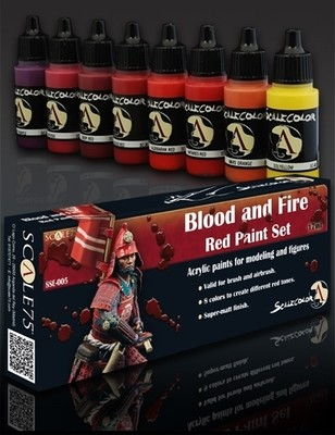 Blood and Fire Red Paintset - Blut und Feuerrot Farbset - Scale75
