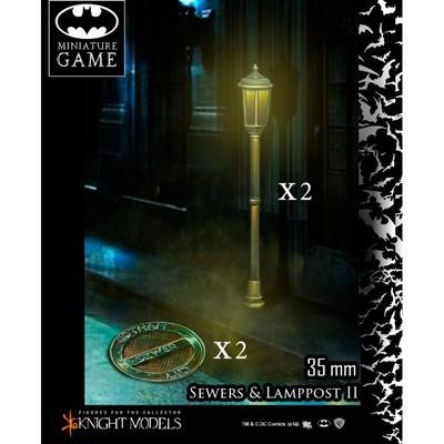 Kanaldeckel und Laternenpfahl Set 2 - Batman Miniature Game