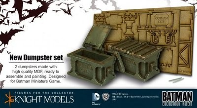 Müllcontainer Dumpster Set - Batman Miniature Game