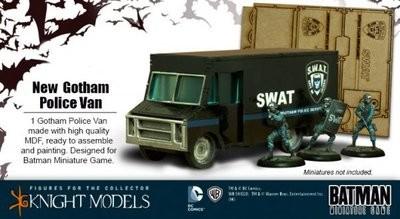 Gotham Police Van - Batman Miniature Game