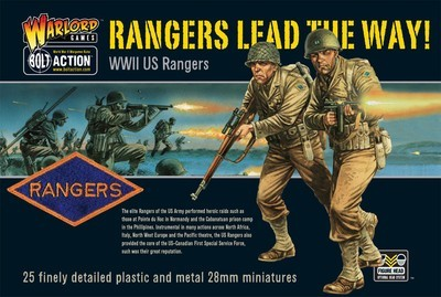 US Rangers Infantry (25) Lead the Way - American - Bolt Action