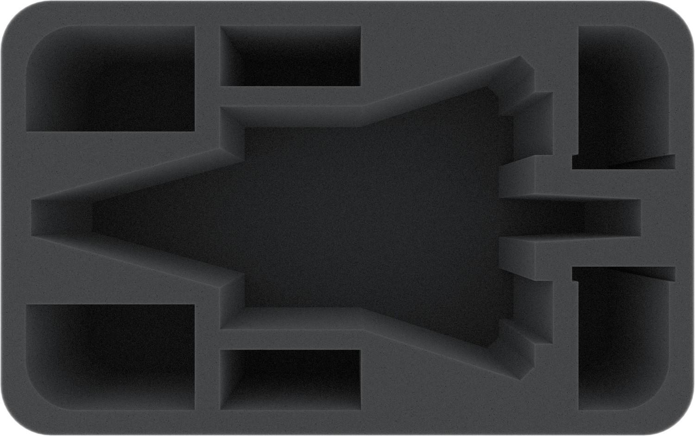 Schaumstoffeinlage für Star Wars X-WING Imperialer Angriffsträger, 4 Schiffe und Zubehör - Feldherr