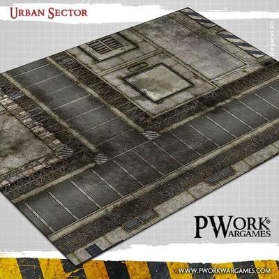 Urban Sector - Wargames Terrain Mat PVC Vinyl - 22x33