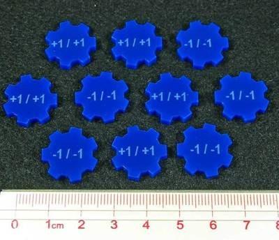 Magic, Modifier Tokens, +1/+1, -1/-1 - Blau- Litko