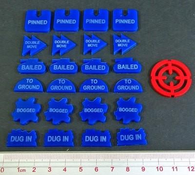 FoW Command Tokens Set - Blau - Litko