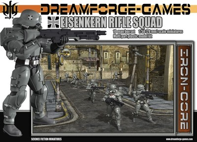 Eisenkern Stormtrooper Rifle Squad (10 man) - DreamForge Games - Wargames Factory