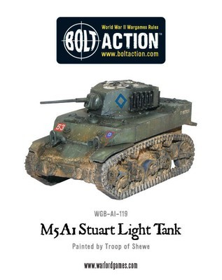 M5 A1 Stuart Light Tank - American - Bolt Action