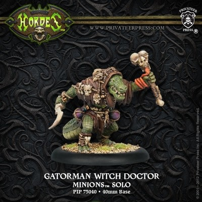 Minion Gatorman Witch Doctor Solo Blister - Hordes - Privateer Press