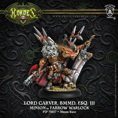 Minion Lord Carver, BMMD, Esq. III Solo Blister - Hordes - Privateer Press