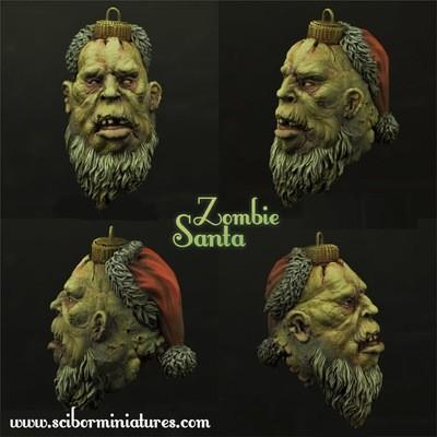 Zombie Santa Bulb - Scibor Miniatures