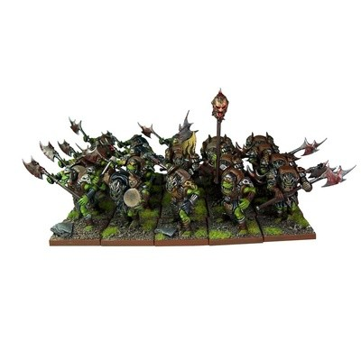 Orc Greatax Regiment - Orks - Kings of War - Mantic Games